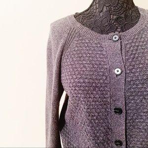 LOFT • Grey knit sweater (L)